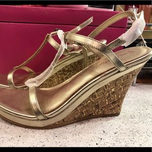 Lilly Gold Wedges w/Rhinestones!